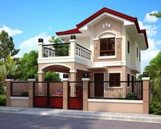 design of two storey house with house front elevation design images single floor for kerala home design photo gallery - Best Home Interior Design Two Story House Design, 2 Storey House Design, Two Storey House, Simple House Design, House Front Design, House Design Photos, Modern House Design, Dream House Exterior, Dream House Plans