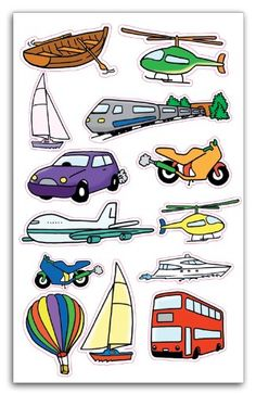 The Transportation Clip Art Set Art Activities For Toddlers, Preschool Learning Activities, Preschool Themes, Preschool Kindergarten, Preschool Art, Activities For Kids, Transportation Theme Preschool, Kids And Parenting, Amazon Fr