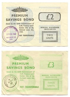 In 1956, the Premium Bonds scheme was first announced