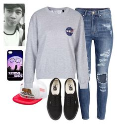 """Calum Hood Inspiration Outfit"" by alexfabulouskilljoys ❤ liked on Polyvore featuring Vans, H&M and Topshop"