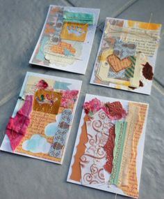 Cards made from paper scraps    #cards #recycle