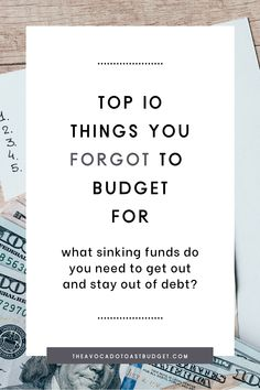 Sinking funds are truly budget changing. They are all of the non-monthly expenses that we often forget to budget for. So when the times comes around to put $500 down on those new tires you knew you would need, you'll likely turn to a credit card. Instead, plan ahead by contributing monthly to sinking funds, so you have the cash when the time comes. Here are 10 of the top sinking funds you've forgotten that need to be in your budget in order for you to get out of debt and save more money. Financial Quotes, Financial Tips, Financial Literacy, Monthly Expenses, Budgeting Finances, Budgeting Tips, Business Management, Money Management, Money Tips