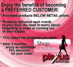 Let me help you get started today. Www.slimmontgomery.com or check me out on Facebook at Plexus Montgomery/Slim Montgomery