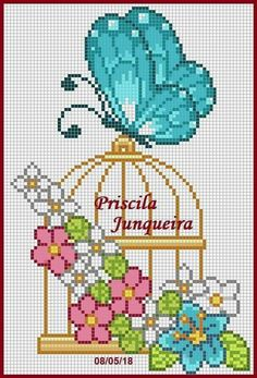 Thrilling Designing Your Own Cross Stitch Embroidery Patterns Ideas. Exhilarating Designing Your Own Cross Stitch Embroidery Patterns Ideas. Butterfly Cross Stitch, Cute Cross Stitch, Cross Stitch Flowers, Counted Cross Stitch Patterns, Cross Stitch Charts, Cross Stitch Designs, Cross Stitch Embroidery, Embroidery Patterns, Pearler Bead Patterns