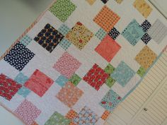 Vintage Happy Quilt Pattern Tutorial  pdf. with photos, Easy to make. by beffie48 on Etsy