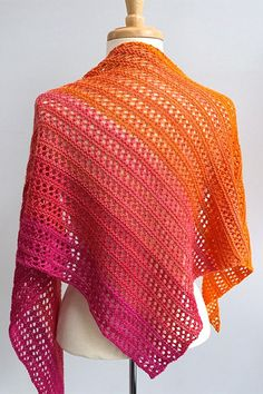 Herald shawl knitting pattern from Woolenberry