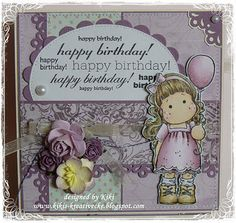 Tilda with balloon from Magnolia stamps