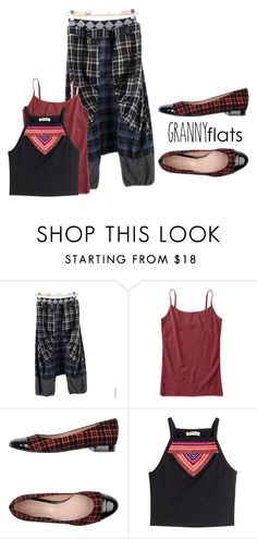 """Up-Town Granny"" by writerjw ❤ liked on Polyvore featuring PepQueen, Aéropostale, Nadia Grilli and H&M"