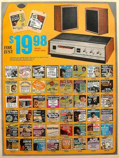 1972 8 Track Cassette Tape Club Vintage Advertisement 1970s