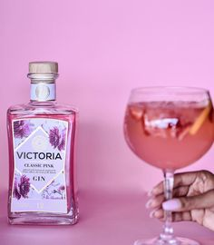 """Victoria Gin on Instagram: """"Victoria Classic pink, adding a touch of style to your week. #victoriahandcraftedgin #pinkgin"""" Gin, Perfume Bottles, Victoria, Touch, Drinks, Classic, Instagram, Style, Drinking"""