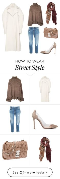 """Street style"" by durdane on Polyvore featuring Gianvito Rossi, Miu Miu, Marni, Burberry and Frame Denim"
