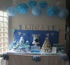 Elephant themed first birthday. Adorable!
