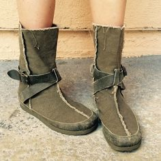 "Selling this ""Army Green Calf Boots"" in my Poshmark closet! My username is: acapr220. #shopmycloset #poshmark #fashion #shopping #style #forsale #Rocket Dog #Shoes"