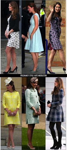 A gravidez da Kate Middleton, de fato! | Fashionismo | Thereza Chammas Maternity Wear, Maternity Dresses, Maternity Fashion, Baby Bump Style, Mom Style, Kate Middleton Embarazada, Estilo Baby Bump, Celebrity Maternity Style, Princesa Kate Middleton
