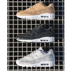 the latest 8e2f6 e645f Three colorways of the new Nike Air Max 90 Woven will be releasing in the  Spring.