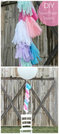 DIY Tissue Paper Tassels are great for parties banners and balloons!