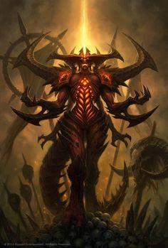 As ilustrações de fantasia para games da Blizzard de Glenn Rane