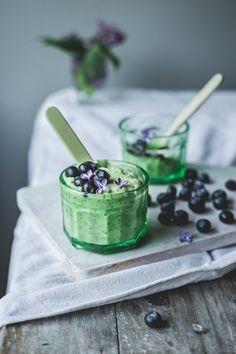 ... green summer chia pudding ...