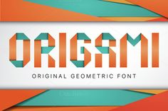 Origami geometric typeface by Vozzy on @creativemarket