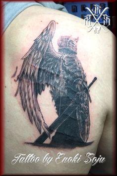 b0da50928 Winged Warrior Tattoo by Enoki Soju by enokisoju.deviantart.com on  @DeviantArt Warrior
