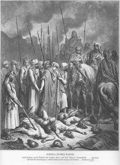"""Y llamándolos Josué, les habló diciendo: ¿Por qué nos habéis engañado, diciendo: Habitamos muy lejos de vosotros, siendo así que moráis en medio de nosotros? Ahora, pues, malditos sois, y no dejará de haber de entre vosotros siervos, y quien corte la leña y saque el agua para la casa de mi Dios. (...) Y él lo hizo así con ellos; pues los libró de la mano de los hijos de Israel, y no los mataron. Y Josué los destinó aquel día a ser leñadores y aguadores para la congregación, """". (Josué 9…"""