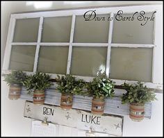 Would be so cute on a potting shed with herbs in the jars!
