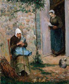 Neo-impressionism, Impressionism, Post-Impressionism - Camille Pissarro - Charity
