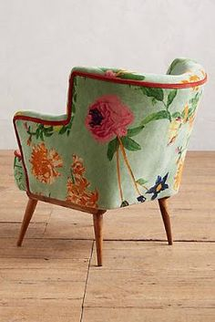 Green and orange vintage style chair