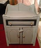 my old pine dry sink after graphite and paris grey annie sloan paint