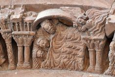 Romanesque Sculpture, Free Standing Sculpture, Graven Images, Sculptures, Lion Sculpture, Carolingian, Stone Masonry, Three Wise Men, Effigy