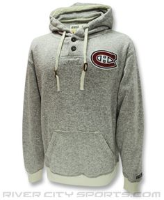 Montreal Canadiens SWEATER KNIT HOODY Clothing - NHL Apparel, Jerseys, Souvenirs - River City Sports Nhl Apparel, Montreal Canadiens, Hoody, Dreams, River, Knitting, Sweatshirts, City, Sports