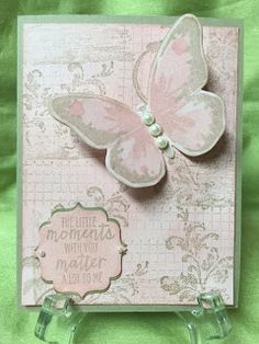 Stamp with Anna: Vintage Shabby Card, Stampin Up Timeless Textures, distressed