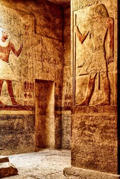 The Mastaba of Mereruka is the largest in Saqqara. It has 32 rooms. Mereruka was the vizier to Teti, who was pharaoh during the VI Dynasty.