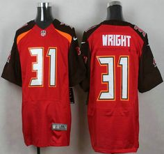 Tampa Bay Buccaneers Jersey 31 Major Wright Red Team Color NFL Nike Elite…