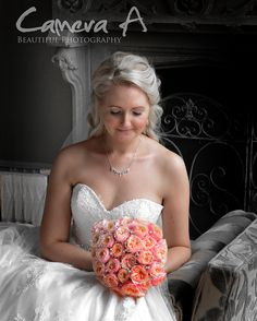 This bride had a perfect day and looked stunning in all of their photos. We love this image with selective colour, it really brings out the details of the dress and flowers and makes the main focus the bride.