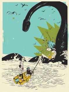 Sea Monster - illustrated by Josh Cochran.