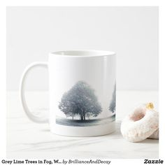 Shop Grey Lime Trees in Fog, Wales Coffee Mug created by BrillianceAndDecay. Lime Trees, Animal Skulls, White Shop, Diy Face Mask, Pink And Green, Wales, Landscape Photography, Coffee Mugs, Kids Shop