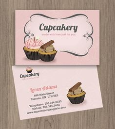 Cupcakes Business card  Customized by NaomiGraphics on Etsy, €15.00