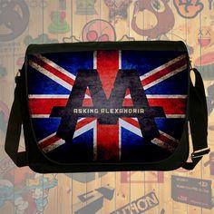 NEW HOT!!! Asking Alexandria Messenger Bag, Laptop Bag, School Bag, Sling Bag for Gifts & Fans #01