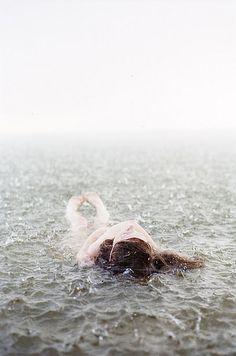 Swimming in the rain, a delightful !