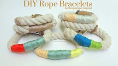 Great...with all the leftover rope from boat...built-in vintage feel --- Rope Bracelets