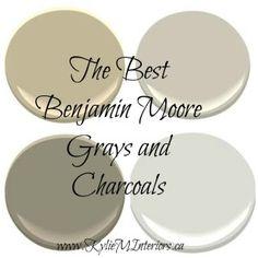 najlepsze kolory farb benjamin moore szary, szary i węgiel