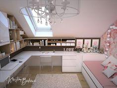 Loft Room, Dream Rooms, My Room, Girls Bedroom, Corner Desk, Decoration, Kids Room, House Design, Modern