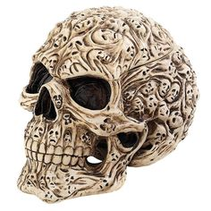 Ghost Spirit Skull Jewelry Box Sculpture Halloween Skeleton Art by Anne Stokes