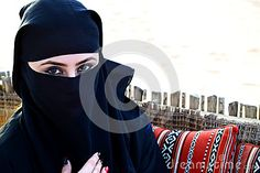 Beautiful Arab woman with Hijab.