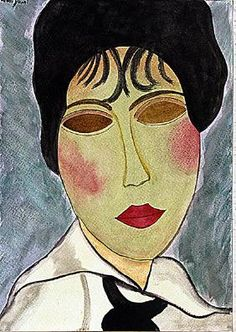 Amadeo Modigliani - Ms Clauded 1915 Watercolor