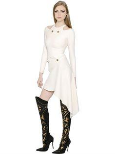 Asymmetrical Silk Cady Dress
