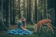 Imagen de blue, deer, and dress