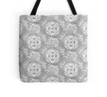 Tasche/Bag. Perfect winter shopping bag. Grey snkowflakes pattern to get into the Holiday spirit.