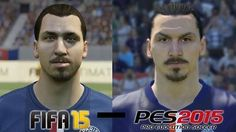Ogromna różnica w wyglądzie Szweda • Zlatan Ibrahimovic w grach FIFA 15 i PES 2015 • Lepsza jakoś PESa 2015 od gry FIFA 15 • Zobacz >>